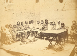 Class in up-country girls' school, Sindh